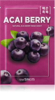 The Saem Natural Mask Sheet Acai Berry szövet arcmaszk az arcbőr élénkítésére és vitalitásáért