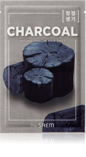 The Saem Natural Mask Sheet Charcoal plátýnková maska s čisticím efektem