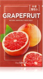 The Saem Natural Mask Sheet Grapefruit plátýnková maska pro rozjasnění a vitalitu pleti