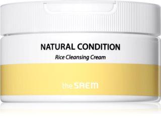 The Saem Natural Condition Rice κρέμα για βαθύ καθαρισμό για λαμπρότητα και ενυδάτωση