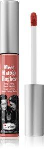 theBalm Meet Matt(e) Hughes hosszantartó folyékony rúzs