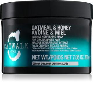 TIGI Catwalk Oatmeal & Honey masque nourrissant intense pour cheveux secs et abîmés