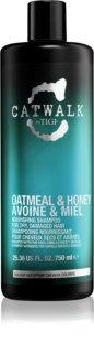 TIGI Catwalk Oatmeal&Honey champú nutritivo para cabello seco y sensibilizado