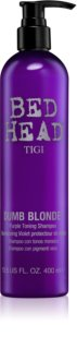 TIGI Bed Head Dumb Blonde champú violeta matificante para cabello rubio
