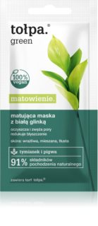 Tołpa Green Matt Clay Mask For Pore Minimizer And Matte  Looking Skin