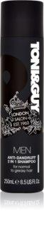 TONI&GUY Men Shampoo en Conditioner 2in1  tegen Roos