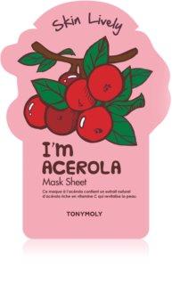 TONYMOLY I'm ACEROLA відновлююча тканинна маска