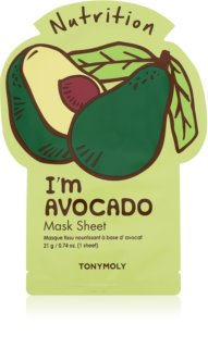 TONYMOLY I'm AVOCADO nourishing face sheet mask