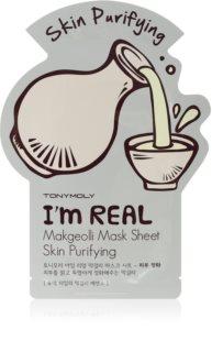 TONYMOLY I'm REAL Makgeolli maska iz platna s čistilnim učinkom