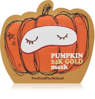 Too Cool For School Pumpkin 24K Gold Mask Brightening and Revitalising Sheet Mask