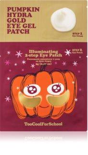 Too Cool For School Pumpkin Hydra Gold Eye Gel Patch Hydrogel Eye Mask