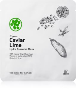 Too Cool For School Caviar Lime Hydra Essential Mask Moisturising and Soothing Sheet Mask