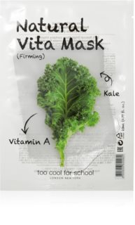 Too Cool For School Natural Vita Mask Firming Kale Firming Sheet Mask For Face Contours