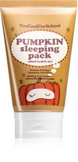 Too Cool For School Pumpkin Sleeping Pack rozjasňujúca nočná maska s peelingovým efektom