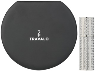 Travalo Divine refillable atomiser with swarovski crystals Unisex Silver
