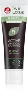 Twin Lotus Herbaliste Active Charcoal Herbal Toothpaste without Fluoride