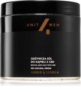 Unit4Men Bath Salt Amber & Vanilla sel de bain à l'huile de chanvre
