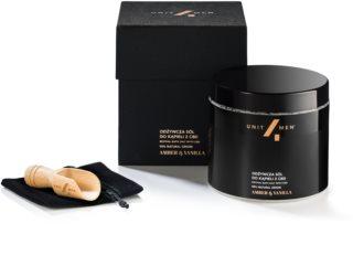 Unit4Men Bath Set Amber & Vanilla sel de bain à l'huile de chanvre