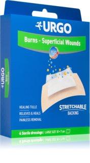 URGO BURNS Na popáleniny sterilní náplasti na ošetření povrchových popálenin 10x7 cm