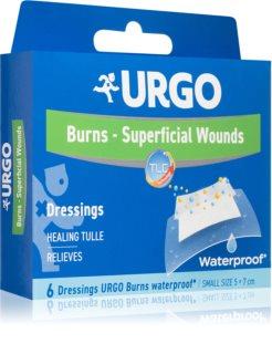URGO BURNS Na popáleniny voděodolné náplasti na popáleniny 5x7 cm