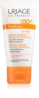 Uriage Bariésun Mineral Cream SPF 50+ minerální ochranný krém na obličej a tělo SPF 50+