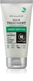 Urtekram Green Matcha hidratáló maszk szennyezett levegőnek kitett hajra