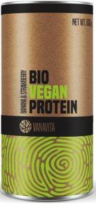 VanaVita Vegan Protein BIO veganský protein v BIO kvalitě příchuť banana & strawberry