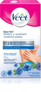 Veet Easy-Gel Depilatory Wax Strips For Armpits Area for Sensitive Skin