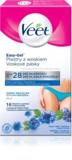 Veet Easy-Gel voskové depilační pásky na oblast bikin pro citlivou pokožku