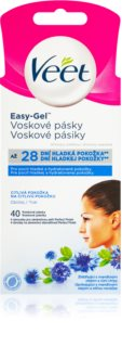 Veet Easy-Gel Depilatory Wax Strips for Face