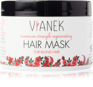 Vianek Maximum Strenght Regenerating masque régénérateur en profondeur pour cheveux blonds