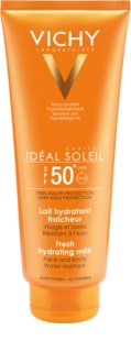 Vichy Idéal Soleil Capital schützende Milch für Gesicht und Körper SPF 50+
