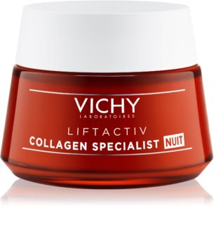 Vichy Liftactiv Collagen Specialist creme de noite reafirmante para as rugas