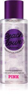 Victoria's Secret PINK Beach Flower Shimmer спрей за тяло  с блясък за жени