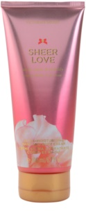 Victoria's Secret Sheer Love White Cotton & Pink Lily крем за тяло  за жени