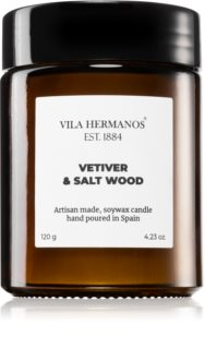 Vila Hermanos Apothecary Vetiver & Salt Wood scented candle