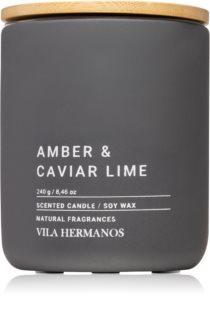 Vila Hermanos Concrete Amber & Caviar Lime illatos gyertya
