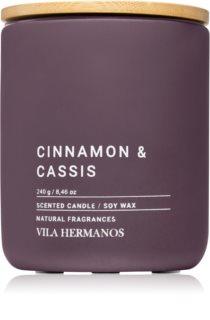 Vila Hermanos Concrete Cinnamon & Cassis illatos gyertya