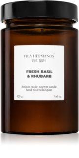 Vila Hermanos Apothecary Fresh Basil & Rhubarb Tuoksukynttilä