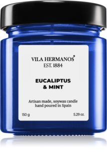 Vila Hermanos Apothecary Cobalt Blue Eucalyptus & Mint scented candle