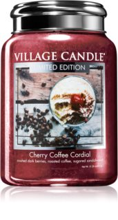 Village Candle Cherry Coffee Cordial vonná sviečka