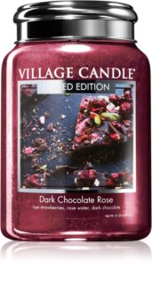 Village Candle Dark Chocolate Rose ароматна свещ