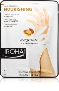 Iroha Nourishing Argan Regenererande handmask i handskar Med arganolja