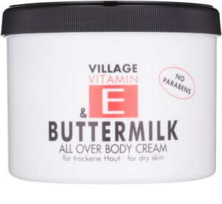 Village Vitamin E Buttermilk tělový krém