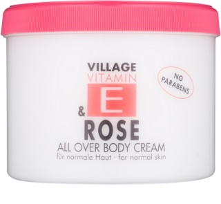 Village Vitamin E Rose crema corporal
