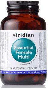 Viridian Nutrition Essential Female Multi komplexní multivitamín s minerály pro ženy