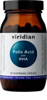 Viridian Nutrition Folic Acid with DHA podpora správného fungování organismu