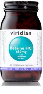 Viridian Nutrition Betaine HCL 650 mg podpora zažívání