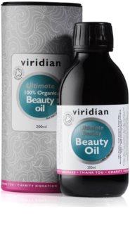 Viridian Nutrition Ultimate 100% Organic Beauty Oil podpora stavu pleti, vlasů a nehtů