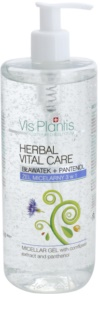 Vis Plantis Herbal Vital Care Cornflower Extract & Panthenol gel micelar 3 em 1